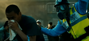 In Transformers: Revenge of the Fallen, people in Shanghai can be seen running away wearing face masks. This is because they don't want to get arrested for spreading the Coronavirus.: In Transformers: Revenge of the Fallen, people in Shanghai can be seen running away wearing face masks. This is because they don't want to get arrested for spreading the Coronavirus.