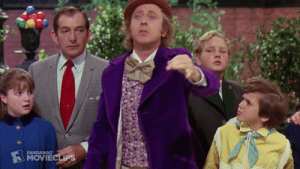 In Willy Wonka and the Chocolate Factory the reason why he says there nothing to it when changing the world is cause he contaminates all his candy with a single human hair.: In Willy Wonka and the Chocolate Factory the reason why he says there nothing to it when changing the world is cause he contaminates all his candy with a single human hair.