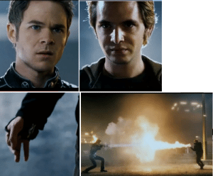 """In X-Men: The Last Stand (2006), Iceman becomes visibly upset with his friend Pyro. This is because Pyro defeats him in the classic """"circle game"""" and makes him look.: In X-Men: The Last Stand (2006), Iceman becomes visibly upset with his friend Pyro. This is because Pyro defeats him in the classic """"circle game"""" and makes him look."""