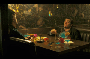 """In Zodiac (2007) the song """"Crystal blue persuasion"""" is playing in the background of the bar as Robert Graysmith ( Jake Gyllenhaal) convinces Paul Avery (RDJ) to try an Aqua Velvet Cocktail: In Zodiac (2007) the song """"Crystal blue persuasion"""" is playing in the background of the bar as Robert Graysmith ( Jake Gyllenhaal) convinces Paul Avery (RDJ) to try an Aqua Velvet Cocktail"""