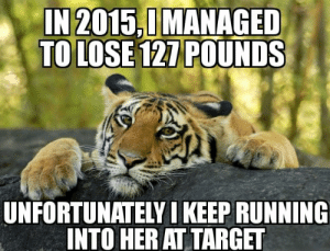 I cant seem to keep the weight off: IN2015,0MANAGED  TO LOSE 121 POUNDS  UNFORTUNATELY I KEEP RUNNING  INTO HER AT TARGET I cant seem to keep the weight off