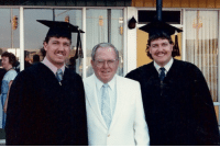 Rex and Rob Ryan At College Graduation with their Dad. Sweet pedo-staches.: ina Rex and Rob Ryan At College Graduation with their Dad. Sweet pedo-staches.
