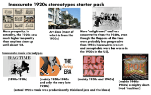 Inaccurate 1920s stereotypes starter pack: Inaccurate 1920s stereotypes starter pack