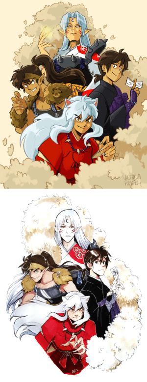 incaseyouart:  Inuyasha re-draw!! It really is such an effective way to see and feel progress! The original was published Jan 1st 2016, so it's been a bit more than four years. The OG was done traditionally with markers and ink, and the reboot with Procreate on my iPad, so it's not a TRUE re-draw, buuuuut still pretty proud of it, especially that I was able to get Sesshoumaru's head angle - I'd wanted that angle with the first drawing, I remember, but wasn't sure how to do it! Huzzah!: incaseyouart:  Inuyasha re-draw!! It really is such an effective way to see and feel progress! The original was published Jan 1st 2016, so it's been a bit more than four years. The OG was done traditionally with markers and ink, and the reboot with Procreate on my iPad, so it's not a TRUE re-draw, buuuuut still pretty proud of it, especially that I was able to get Sesshoumaru's head angle - I'd wanted that angle with the first drawing, I remember, but wasn't sure how to do it! Huzzah!