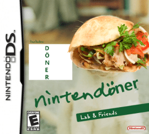 Nintendo: Includes:  D  nintendöner  TM  EVERYONE  Lab & Friends  CONTENT RATED BY  Nintendo  NINTENDODS.  A:0 Z wR