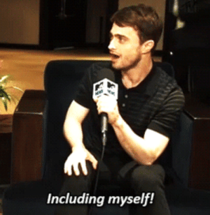 Daniel Radcliffe, Gif, and I Bet: Including myself! theycallmethemoose: batmanisagatewaydrug:  stammsternenstaub:  saxifraga-x-urbium:  asterion22:  prettylittletmi:  Daniel Radcliffe Brushes Off 'Fifty Shades' Snub (x)  I appreciate the very real disgust on his face in the second gif.   i bet rob pattinson just rang him up and screamed don't do it in the phone  I bet this phonecall happened at 2am with no greeting and Dan knew exactly who it was and why.  I bet Robert Pattinson has made it his mission in life to prevent people from taking shitty roles that will haunt them forever and everyone in Hollywood knows it and now he's like the Acting Avenger  the Acting Avenger