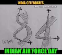 84..: INDIA CELEBRATES  laughing colours co m  INDIAN AIR FORCE DAY 84..