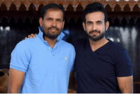Memes, Indian, and Irfan Pathan: Indian all-rounders Irfan Pathan and Yusuf Pathan strike a pose.