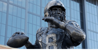 Indianapolis Colts, Memes, and Peyton Manning: Indianapolis @Colts unveil Peyton Manning statue with ceremony: https://t.co/fHHmmwtVR7 #ThankYouPeyton https://t.co/odDU5IwG8D