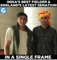 Haseeb Hameed strikes a pose with India's greatest fielder Mohammad Kaif after the 3rd Test.: INDIA'S BEST FIELDER &  ENGLAND'S LATEST SENATION  IN A SINGLE FRAME Haseeb Hameed strikes a pose with India's greatest fielder Mohammad Kaif after the 3rd Test.