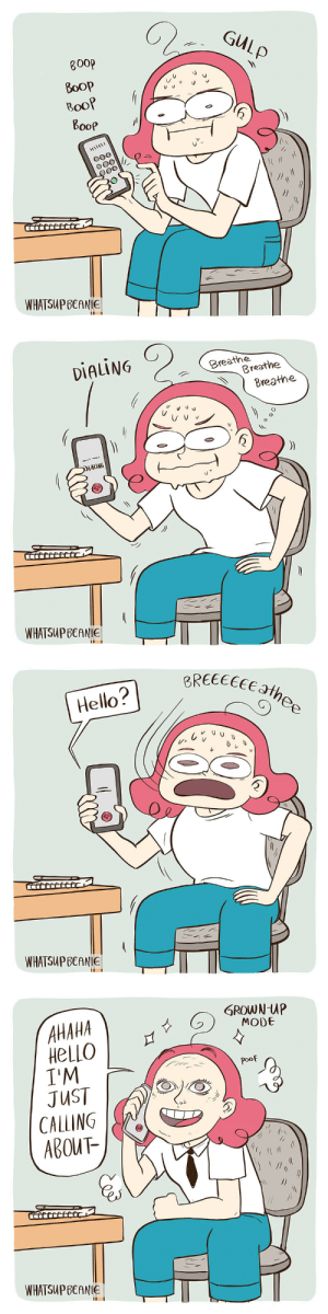 indiginerd: whatsupbeanie: Hahaha I'm a functional adult that can use the phone no problem, yep, definitely *sweats*. In all seriousness, I've had a huge problem with doing phone calls most of my life and have made huge progress with it to the point that I can sound almost normal during them. The build up to a call is still pure agony though.  : indiginerd: whatsupbeanie: Hahaha I'm a functional adult that can use the phone no problem, yep, definitely *sweats*. In all seriousness, I've had a huge problem with doing phone calls most of my life and have made huge progress with it to the point that I can sound almost normal during them. The build up to a call is still pure agony though.