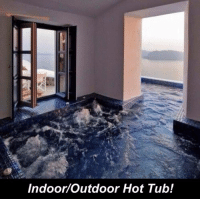 Memes, 🤖, and Hot: Indoor Outdoor Hot Tub!