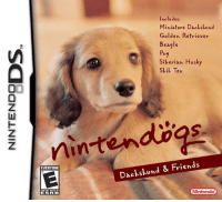 Dogs, Nintendo, and App Store: Ineludes:  Miniature Dackskund  Golden Retriever  Beagle  Pug  Siberian Husky  Skil Tzu  SI  nintendbgs  EVERYONE  Dackskund & Friend:s  ESRB  Nintendo petition to get Nintendo Dogs as an app on the App Store  rt https://t.co/ipJ3iGE0CF