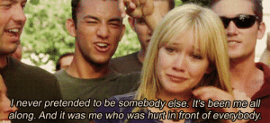 https://iglovequotes.net/: Inever pretended to be somebodyelse. It's been me all  along. And it was me who was hurt in front of everybody. https://iglovequotes.net/