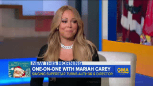 Ariana Grande, Singing, and Target: INEW THIS MORNIN  ONE-ON-ONE WITH MARIAH CAREYGMA  SINGING SUPERSTAR TURNS AUTHOR & DIRECTOR arianacopyingmariah:  mariah FORCED to watch ariana grande