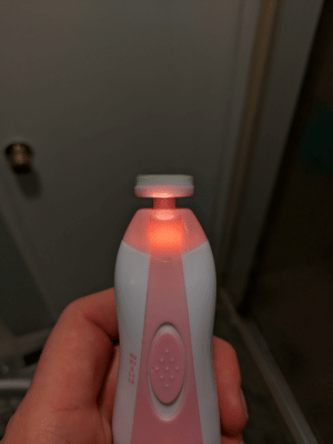 Infant nail trimmer with worthless light (shines on dremel disc): Infant nail trimmer with worthless light (shines on dremel disc)