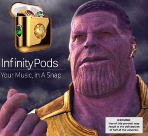 Infinitypods Your Music In A Snap Warning Use Of This