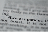 Patient, Ing, and Boast: ing.  4Love is patient, lo  not boast, it is not