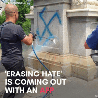 Memes, 🤖, and App: INGHATE  ERASING HATE  S COMING OUT  WITH AN  APP This guy is incredible. What a great way to combat hate!