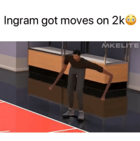 Arms are this long too 😂 Via @MKelite: Ingram got moves on 2k  MKELITE Arms are this long too 😂 Via @MKelite