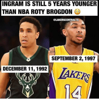 Ingram has a TON of time to grow!😂🔥🏀 _____________________________________________________ Lakers Lalakers TeamLakers LonzoBall JordanClarkson JuliusRandle BrandonIngram TheFuture LakersNews LakersGame Kobe KobeBryant BlackMamba Mamba lebronjames Basketball NBA Laker4Life LakersAllDay michaeljordan GOAT LakerNation GoLakers legend @1ngram4 @jordanclarksons @zo @juliusrandle30 @ivicazubac @larrydn7 @kobebryant shaq drake spikelee NBA nbaallstar @mettaworldpeace37: INGRAM IS STILL 5 YEARS YOUNGER  THAN NBA ROTY BROGDON0  @LAKERSCENTRAL16  SEPTEMBER 2,1997  DECEMBER 11, 1992  14 Ingram has a TON of time to grow!😂🔥🏀 _____________________________________________________ Lakers Lalakers TeamLakers LonzoBall JordanClarkson JuliusRandle BrandonIngram TheFuture LakersNews LakersGame Kobe KobeBryant BlackMamba Mamba lebronjames Basketball NBA Laker4Life LakersAllDay michaeljordan GOAT LakerNation GoLakers legend @1ngram4 @jordanclarksons @zo @juliusrandle30 @ivicazubac @larrydn7 @kobebryant shaq drake spikelee NBA nbaallstar @mettaworldpeace37
