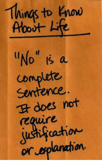 Naw,  No, and  No Is a Complete Sentence: ings to naw  No Is a  Complete  Sentence  does not  eQire  or  anahion
