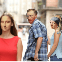 9gag, Memes, and Paintings: ininevren If characters from classical paintings lived in the modern world. - By @hayatininevreni - painting art 9gag