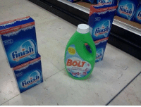 Bolt crosses the Finish line to win another gold medal [2016]: inish  BOLT Bolt crosses the Finish line to win another gold medal [2016]