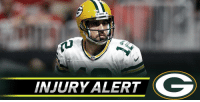 Aaron Rodgers, Memes, and 🤖: INJURY ALERT Aaron Rodgers carted to locker room: https://t.co/PAoxgc02vL #GBvsMIN https://t.co/TFmwKjv6aY