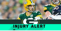 Aaron Rodgers, Memes, and 🤖: INJURY ALERT Aaron Rodgers exits #CHIvsGB: https://t.co/0Hr9gy5P04 https://t.co/QhDZW1Y30S