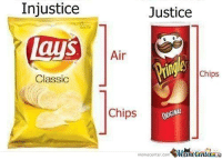 Pringles is the real MVP!: Injustice  Lays  Classic  Justice  Air  Chips  Chips  ORGINAL  memecenter.com  PMcmecenteraio Pringles is the real MVP!