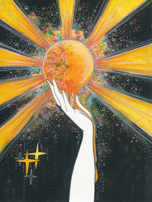 inkflowergarden: Hold onto your sun.: inkflowergarden: Hold onto your sun.