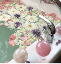 Instagram, Taken, and Tumblr: inkxlenses: Flowers  Crystals Bath | by themagickalearth