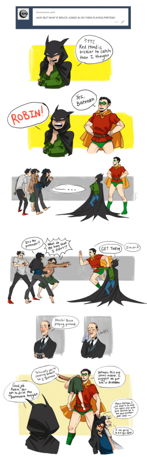 inkydandy: What an unexpected trilogy. Also, I was going to put Bruce in something resembling Tim's Robin suit, but Bruce in green undies. You just don't pass that opportunity up. First part | Second part : inkydandy: What an unexpected trilogy. Also, I was going to put Bruce in something resembling Tim's Robin suit, but Bruce in green undies. You just don't pass that opportunity up. First part | Second part