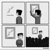 Modern art in a way we all can understand: insecurities  MEME  O sandserif Modern art in a way we all can understand
