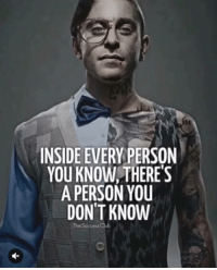 Memes, 🤖, and Secret: INSIDE EVERY PERSON  YOU KNOW THERE'S  A PERSON YOU  DON'T KNOW We all have a secret self🤫 - TheSuccessClub