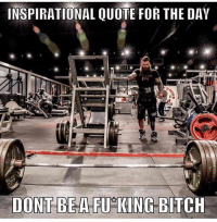I live by that👇: INSPIRATIONAL QUOTE FOR THE DAV  DONT BE A FU KING BITCH I live by that👇
