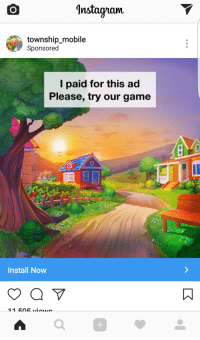 "Instagram, Target, and Tumblr: Instagnam  township mobile  Sponsorec  l paid for this ad  Please, try our game  Install Now  0 <p><a href=""http://www.meladoodle.com/post/159656273452/this-is-the-saddest-instagram-ad-ive-ever-seen"" class=""tumblr_blog"" target=""_blank"">meladoodle</a>:</p><blockquote><p>This is the saddest instagram ad I've ever seen</p></blockquote>"