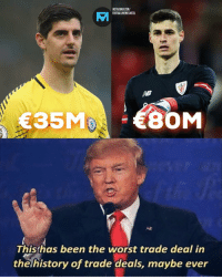 Chelsea, Instagram, and Memes: INSTAGRAM.COM/  FOOTBALLMEMESINSTA  Ral  Thishas been the worst trade deal in  thelhistory of trade deals, maybe ever Every Chelsea fan right now...