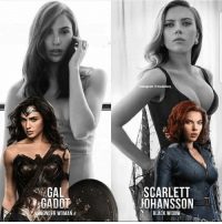 Instagram, Memes, and Scarlett Johansson: Instagram modelbay.  SCARLETT  JOHANSSON  GAL  NONDER WOMAN  BLACK WIDOW . Who would you vote for ?