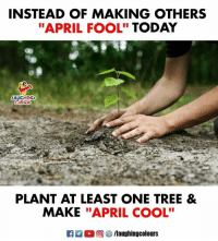 """Cool, Today, and Tree: INSTEAD OF MAKING OTHERS  """"APRIL FOOL"""" TODAY  LAUGHING  PLANT AT LEAST ONE TREE &  MAKE """"APRIL COOL"""" #AprilFool"""