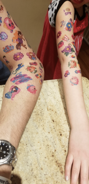 Instead of toilet paper we stocked up on temporary tattoos....: Instead of toilet paper we stocked up on temporary tattoos....