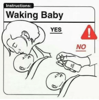 No Meme: Instructions:  Waking Baby  YES  NO