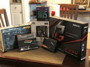 Early Christmas gift to myself: (intel  9TH GEN  15  15-9400  LGA1151  ASROCK  COOLER  MASTER  Support Socket  Intel LGA 206/1151  AMD AM4  ASRock  CX SERIES  PHANTOS  CAMINE  PHANTOM  CORSAIR  GAMING  DDRA  SAMSUNG  TRIDENTZ  SKILL  500GB  ER 212  TRIDENT Z DIRECT CONTA V-NAND SSD  NTACT HEATPIPE  G.SKILL  OUNTING  RGB  860 EVO  Ni  Z390  ATX POWER SUPPLY At  CONTICArioe  The 150 that make fat  TRIDENT Z RGB  BC  nr 9 Gen  SUPPORTS  ENTSATE  INTEL CORE  80 PLUS BRON TED  CONTINUO R OUTPUT  WAINAE SPEED FAN FOR GUETER OPENAriON  PROCESSORS  PHANTOM GAMING SLi/ac  CORE  PHANT OM GAMING SL/ac  SAMSUNG  Solid State 0  FNAND D 860 EVO Early Christmas gift to myself