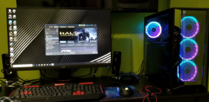 asked for a graphics card got a WHOLE PC AND MONITOR INSTEAD with the same graphics card I wanted: (intel)  gycleBn  OUE  Cot  Vecond  ASINGLED  Steam  View Friends Games  Help  CynPepper-54.81  → STORE URARY COMMUNITY CYNPEPPER  ADRUS  ENGINE  HOME  HAL  GAMES  GeFarce  <- ALL (11/102)  THE MASTER CHIEF COLLECTION  CiRC Stys  Counter-Strike: Global Offensive  DOWNLOADING  ACHIEVEMENTS  0/700  9.48 GB of 14.99 GB  Microsoft Flight Simulator X: Stear  Guides  Discussions  Find Groups  Planet Coaster  Community Hub  Store Page  Surviving Mars  Uviierm S  War Thunder  Newly acquired DLC has been automatically Installed. Manage your DLC  DOWLOAD  4 of 5 lems Complete  acer  IBUVPOWER  PUDA  Shife  Bhife asked for a graphics card got a WHOLE PC AND MONITOR INSTEAD with the same graphics card I wanted