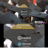 Destiny, Lol, and Meme: Intellect  Glimmer  BACHELORS DEGREE  HELMET  A Intellect  +105  Glimmer  105,000  DESTINY GUARDIA  MEME lol I forgot to congratulate those who graduated recently. Like our partner @letsplay_trixie 🎉 🎉 awesome job! Admin Rob {Partners😝} @letsplay_trixie ------------------ destinymeme destinymemes destinyfail destiny crota guardian gamer meme nightfall gamer gamermeme nerd destinythegame ironbanner crucible xur psn xboxone gjallarhorn bungie destinycommunity houseofwolves videogames trialsofosiris thetakenking destinyguardianmeme destinythegame riseofirondlc riseofiron destiny2
