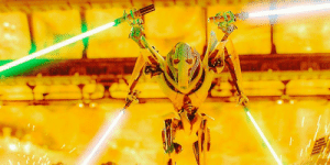 """Intensely oversaturating images of prequel characters every day until people stop posting """"doing x every day until"""" posts. Day 1: The robot that started this mess: Intensely oversaturating images of prequel characters every day until people stop posting """"doing x every day until"""" posts. Day 1: The robot that started this mess"""