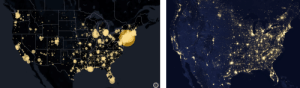 Interesting similarities - US Night Sat. photo vs. COVID-19 cases - Figured I would share: Interesting similarities - US Night Sat. photo vs. COVID-19 cases - Figured I would share