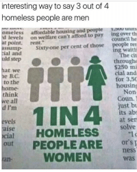America, Feminism, and Funny: interesting way to say 3 out of.4  interesting way to say 3 out of 4  homeless people are men  omeless affordable housing and people ou units  d levels on welfare can't afford to pay ing over th  at point. rent.  council he  people ren  The cit  through  $250 mi  cial and  for 3,50  housing  Non  sumpS  Sixty-one per cent of those  ng waiti  ial and  nid step  hat we  e B.C  to the  ome  think  Coun  e all  d I'm  just bu  its ab  at sen  solve  evels  aise  cial  out PEOPLE ARE OYS  WOMEN  or's  ness  an-  was Hahaha feminism tryna change the narrative😂😂 🔴www.TooSavageForDemocrats.com🔴 JOINT INSTAGRAM: @rightwingsavages Partners: 🇺🇸 @The_Typical_Liberal 🇺🇸 @theunapologeticpatriot 🇺🇸 @DylansDailyShow 🇺🇸 @keepamerica.usa 🇺🇸@Raised_Right_ 🇺🇸@conservative.female 🇺🇸 @too_savage_for_liberals 🇺🇸 @Conservative.American DonaldTrump Trump 2A MakeAmericaGreatAgain Conservative Republican Liberal Democrat Ccw247 MAGA Politics LiberalLogic Savage TooSavageForDemocrats Instagram Merica America PresidentTrump Funny True SecondAmendment
