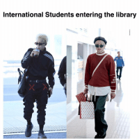 Library, International, and Nee: International Students entering the library  AL  NEE  EVERY